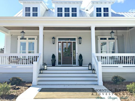 The Modern Farmhouse by Thornton Builders in North Carolina. This really is my dream home... I love everything about the inside and outside.