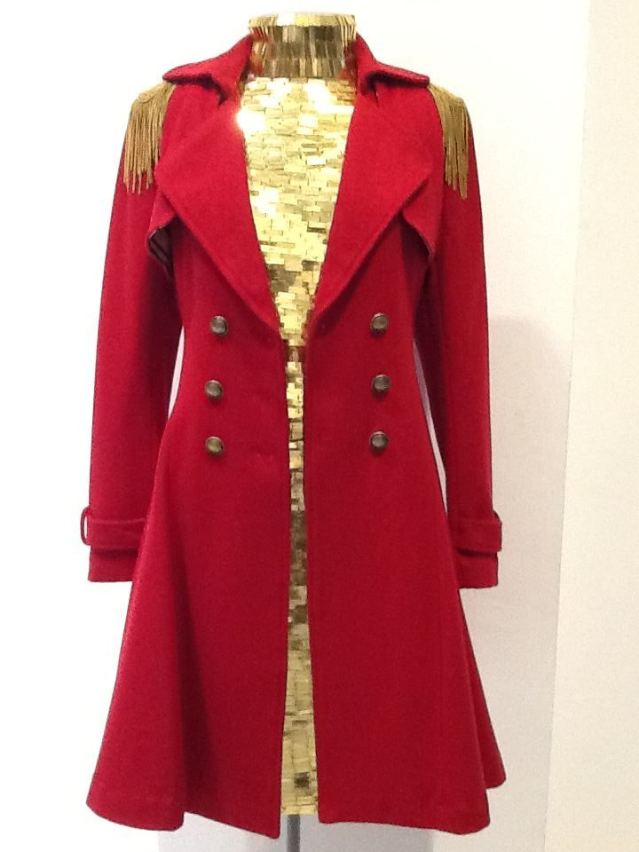 Trelise Cooper Flare-tations coat with the Trelise Cooper Gold Shoulder dress   Contact us on 04 472 2122