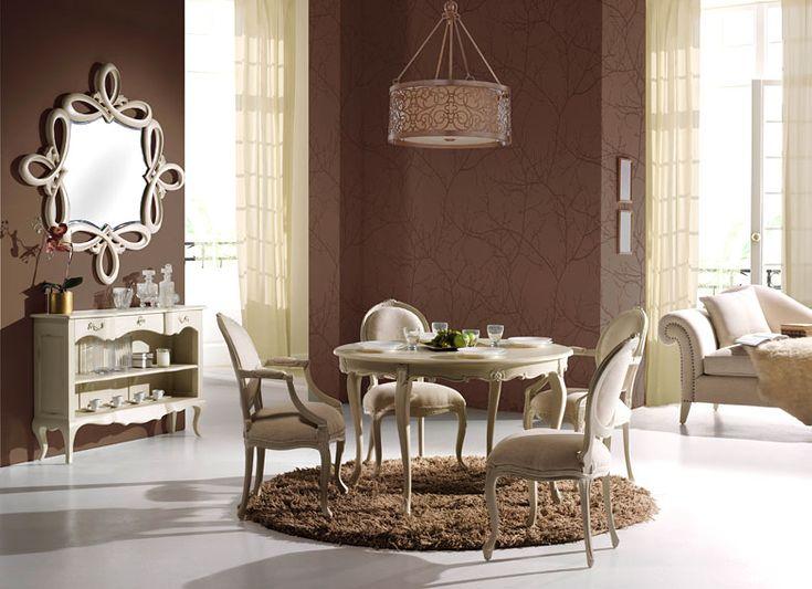 Comedor vintage la rochelle round vintage environment for Comedor hexagonal