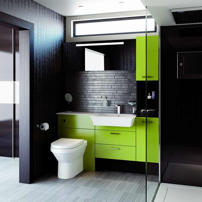 17 best images about splish splash green on for Trendy bathroom ideas