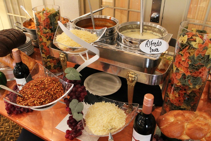 Food stations are cool i just hate lines wedding for Food bar ideas for wedding reception