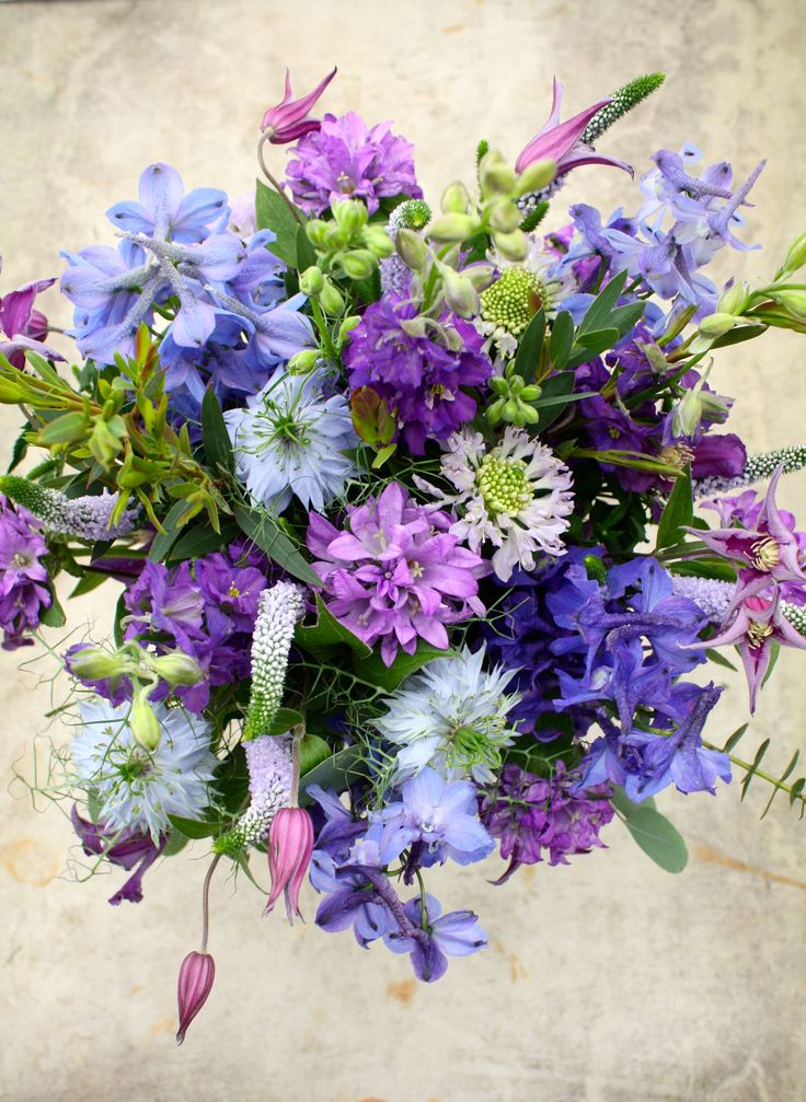 Striking blue bouquet. Love these colours.
