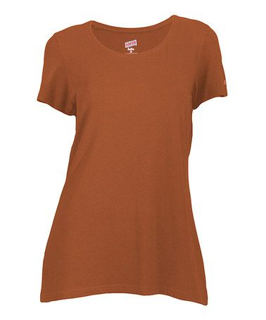 This Texas Orange Short-Sleeve Top - Women & Plus by Soffe is perfect! #zulilyfinds