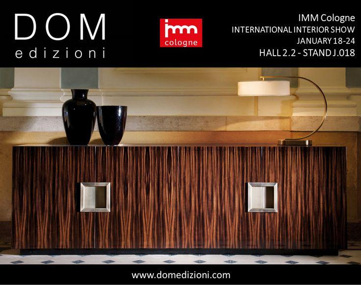 DomEdizioni at next IMM Exhibition, Cologne. #domedizioni #imm #events #furniture #exhibition #luxurytradefair