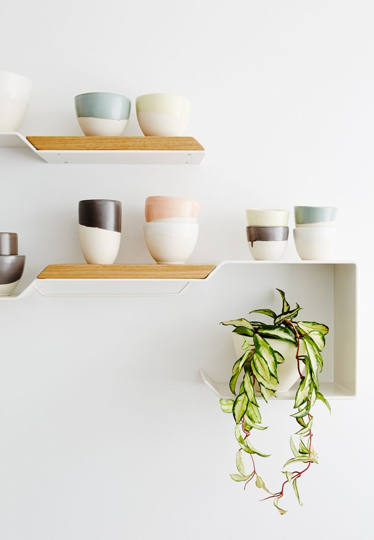 Shelf styling by The Style School. Paint colour - Haymes Greyology 1