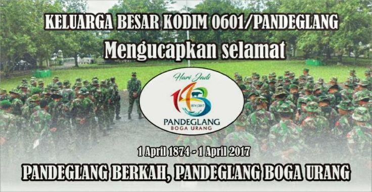 Dirgahayu Kabupaten Pandeglang ke 143 Tahun 2017