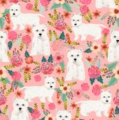 westie florals fabric cute west highland terrier dog design best westies fabric cute sewing projects for dog people by petfriendly