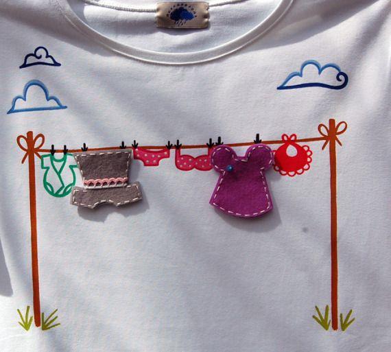 Camiseta Tendal / nuvensesons - Artesanio