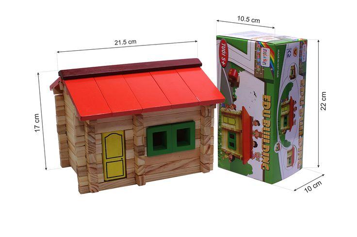 Mô Hình Edugames - Edu Building GA673 cung cấp cho bé nhiều mảnh ghép để lắp ráp thành mô hình nhà ở đẹp mắt. Sản phẩm thiết kế các hình khối đa dạng với màu sắc bắt mắt sẽ giúp bé linh hoạt trong việc nhận dạng màu sắc và kích thước đồ vật. Sản phẩm thích hợp cho bé từ 5 tuổi trở lên.