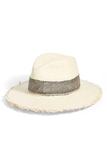 Best Black Friday Clothing Deals 2020 Best Seller rag bone Frayed Edge Panama Straw Hat online in 2019