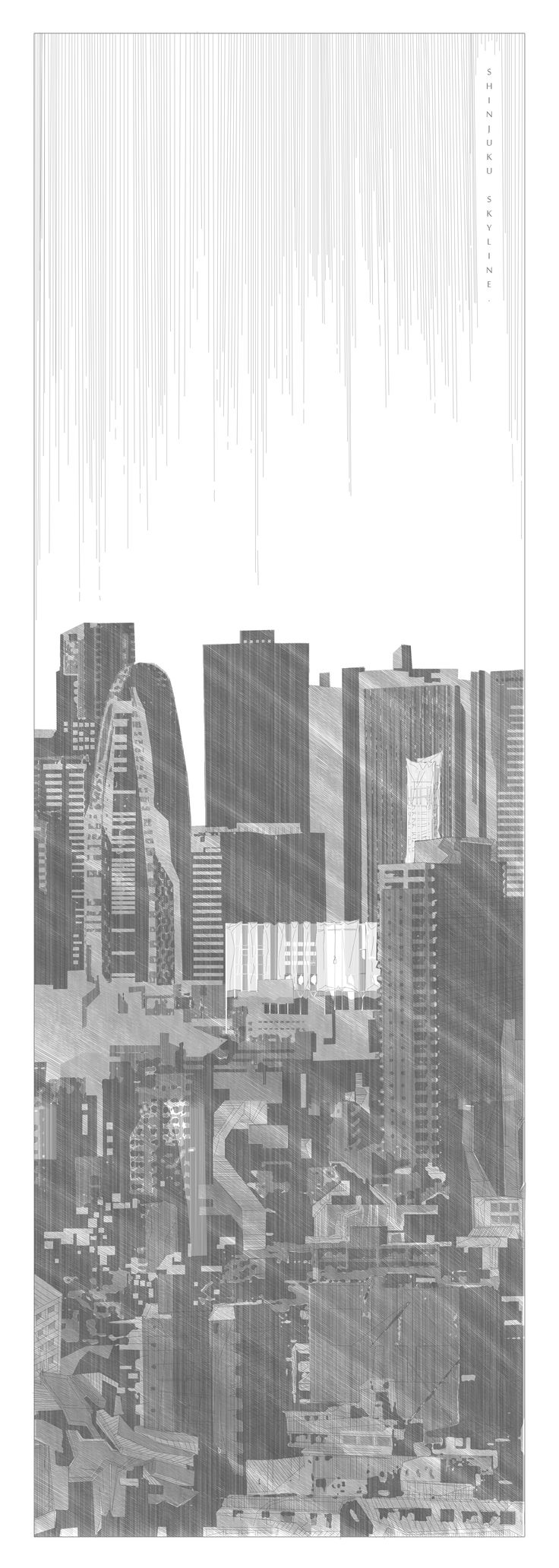 Shinjuku Skyline by Hamish Angus McAndrew #Shinjuku #Tokyo #architecture