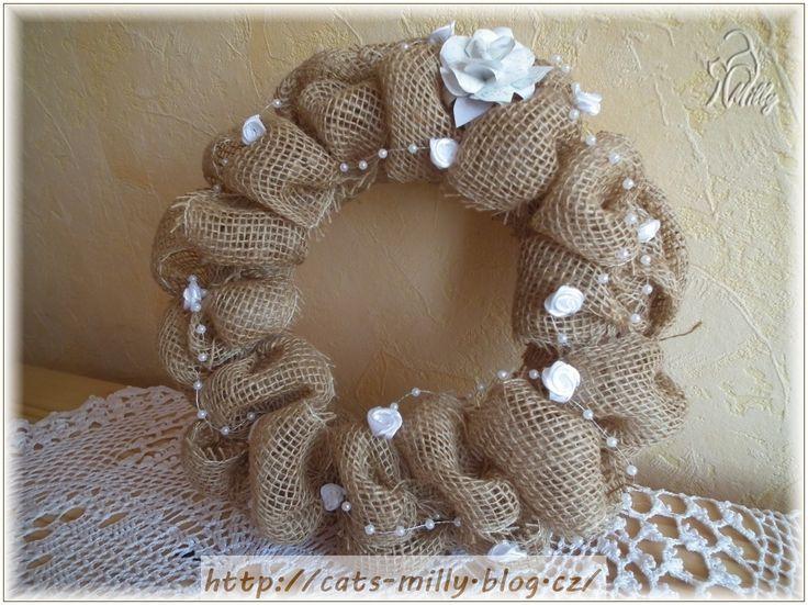 burlap, wreath