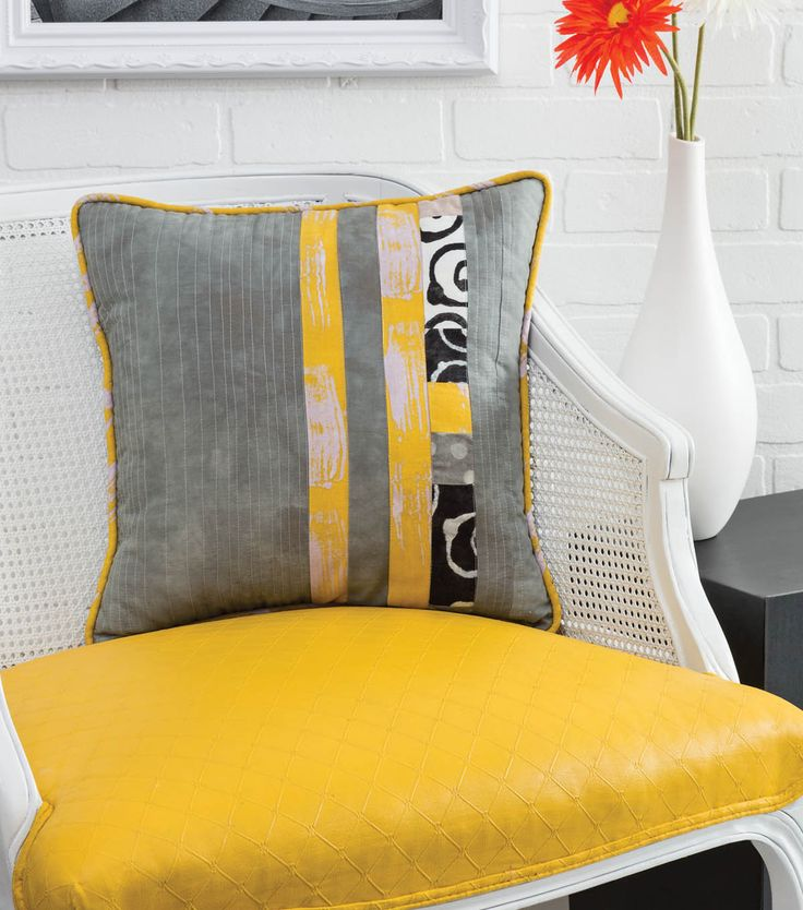 Vertical Stripe Pillow pillow shape in trunk: solid fabric w/accent color stripe and cache lapis stripe & 21 best Silver Teal Yellow images on Pinterest   Bedroom ideas ... pillowsntoast.com