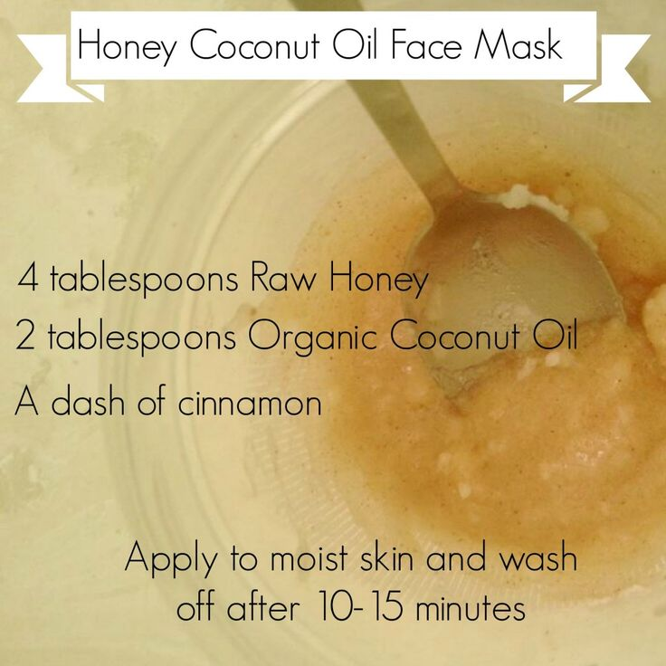 coconut oil honey mask #skincare #diybeauty