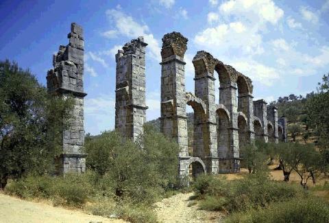 Roman #Aqueduct on #Lesbos Island, #Greece