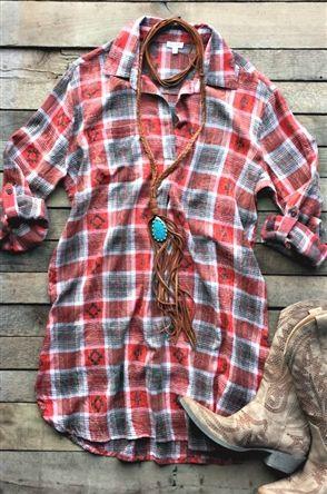 plaid shirt dress, What We Have Plaid Shirt Dress
