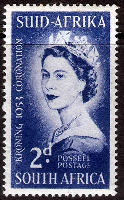 South Africa 1953 Queen Elizabeth Coronation Fine Mint SG 143 Scott 192 Other South Africa Stamps HERE