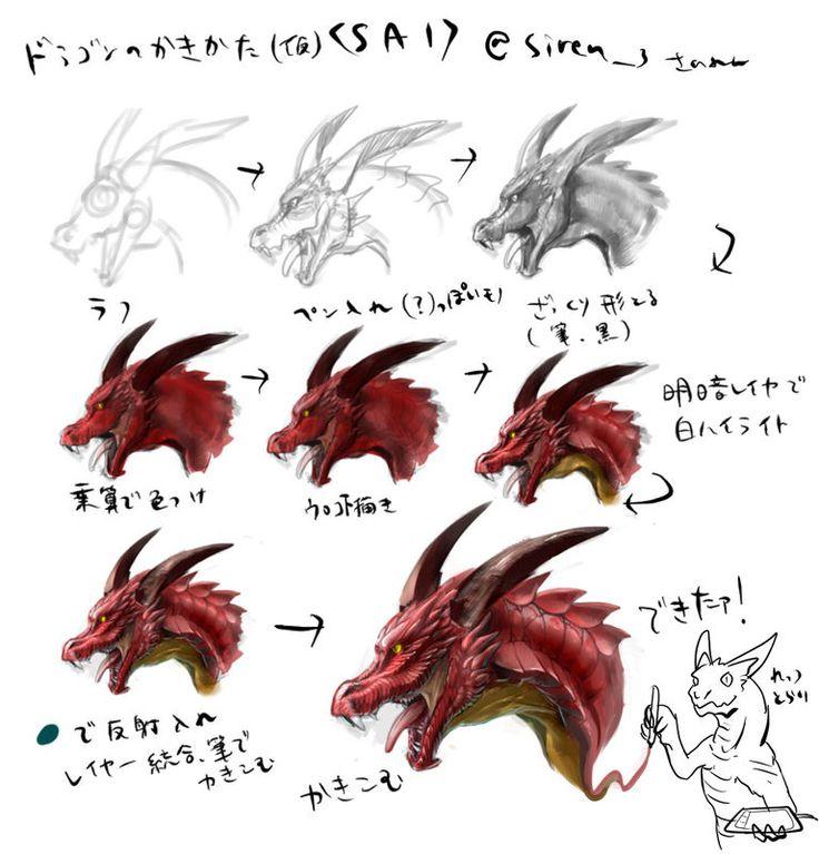 ヨーロッパなどの神話や伝説で伝えられている「ドラゴン」。トカゲなど爬虫類に似た姿を持つ、硬いウロコにおおわれた伝説上の生き物です。 強くてかっこいいドラゴンは、ファンタジーの世界でもお馴染みですが、なかなかイラストには描きづらいですよね。 本日は、初めてドラゴンを描く方にもオススメな、描き方講座やメイキングを特集しました。図形から骨格を起こしたり、身近な動物からドラゴンを描く目からウロコな方法などは一見の価値ありです。それではご覧ください。