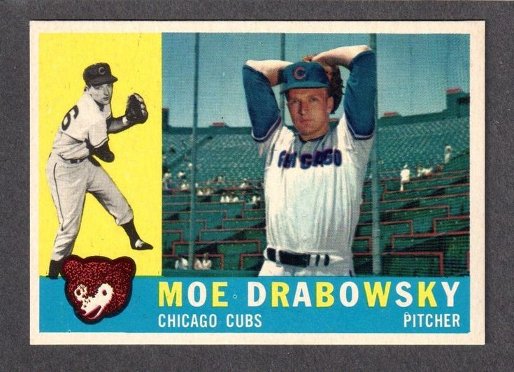 1960 topps 349 moe drabowsky chicago cubs nmmint a