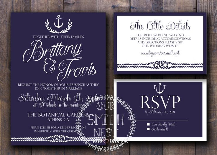 2566 best nautical wedding invitations images on pinterest nautical wedding invitation suite diy printable by oursmithnest solutioingenieria Images