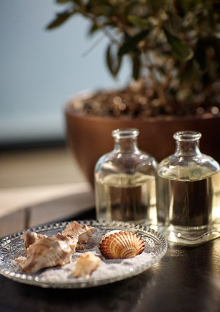Therapists at 43 The Spa, at Hotel Arts Barcelona, use small seashells to perform the signature treatment named 43 Sea Experience. The seashells invite the nearby Mediterranean into the experience.
