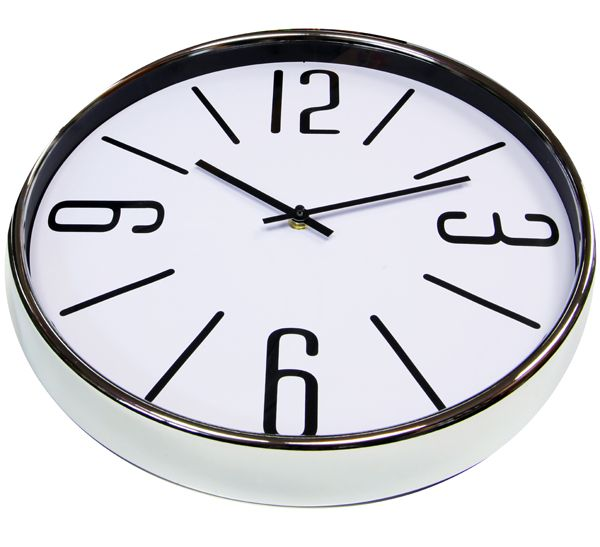 Часы настенные «Хай-тек» белые