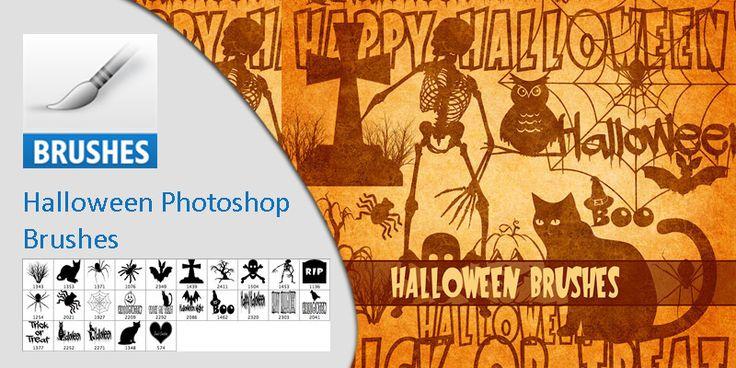 #Halloween Photoshop Brushes