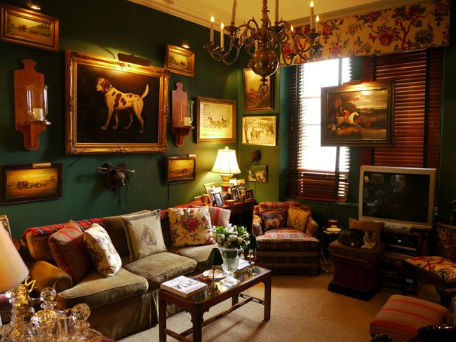 1000 ideas about hunter green bedrooms on pinterest - Lodge living room decorating ideas ...