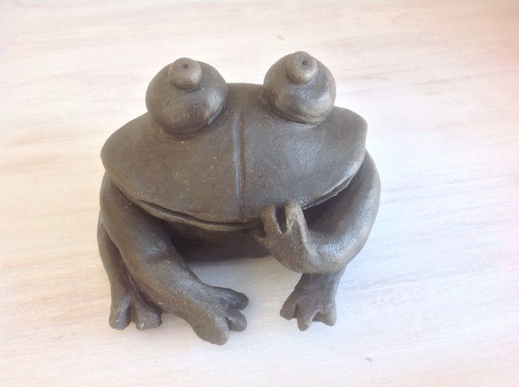 Black clay frog