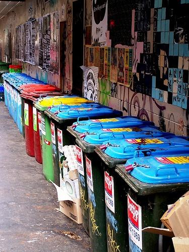 Wheelie Bins - Caledonian Lane  Melbourne Australia -eoftheref on flickr