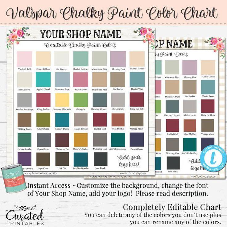 valspar chalky color chart custom color chart diy chalk on valspar paint color chart id=12544