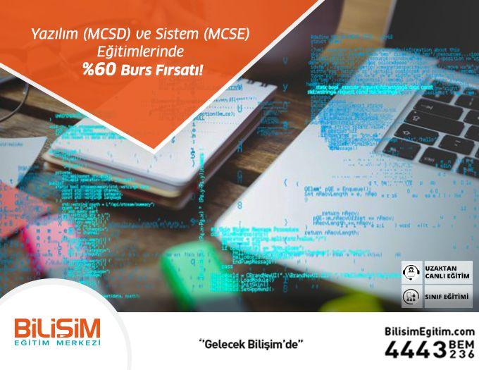 Yazılım (MCSD) ve Sistem (MCSE) eğitimlerinde geçerli olan %60 burs fırsatından yararlanmak için hemen başvurun! http://bit.ly/BursFırsatı 444 32 36  #bilişimegitim #bilişimeğitimmerkezi #onlineeğitim #uzaktancanlıeğitim #microsoftoffice #autocad #SAP2000 #matlab #photoshop #revit #solidworks #bilgisayarkursu #bilgisayaregitimi #yazılım #yazılımegitimi #yazılımkursu #webyazilimuzmanligi #veritabaniuzmanligi #microsoft #egitim #kurs #egitimkampanyası #fırsat