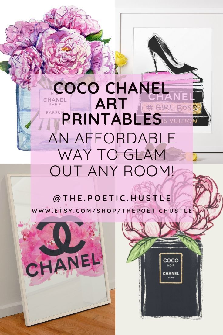 Coco Chanel Printable Wall Art In 2021 Chanel Printable Printable Wall Art Chanel Wall Art