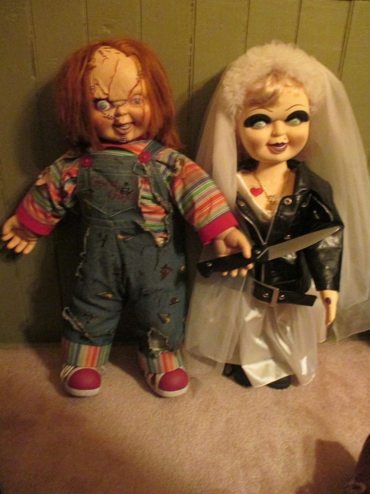 spencers Original Life Size Pair of 24 Chucky & Bride of Chucky Tiffany Dolls