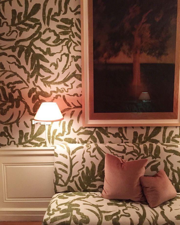 Benjamin Vandiver | walls & settee upholstered Zak + Fox's soon-to-be-released, Matisse-inspired Sauvage fabric