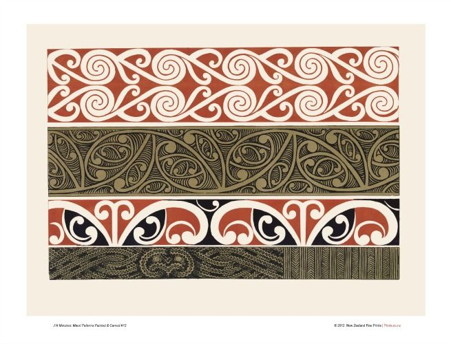 Design 12 from Maori Patterns by JH Menzies for Sale - New Zealand Art Prints