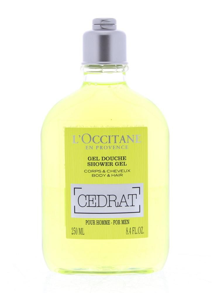 L'Occitane Homme Cedrat Gel Douche Corps&Cheveux 250ml  Description: L'Occitane Homme Cedrat Gel Douche. Deze 2-in-1 douchegel met cederappel reinigt zowel het lichaam als het haar. Zijn frisse mannelijke geur combineert sprankelende nuances met een licht houtachtig geurspoor. Hij is verrijkt met biologisch extract van cederappel uit Corsica met stimulerende eigenschappen verkwikt de huid en maakt het haar soepel en glanzend.  Price: 15.00  Meer informatie