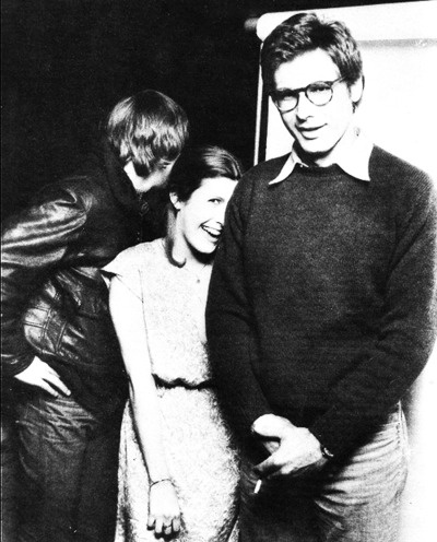 Harrison Ford, Carrie Fisher, & Mark Hamill. This picture makes me happy (: