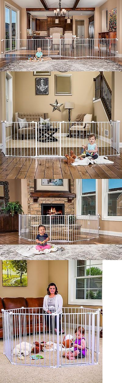 Baby Safety and Health 20433: Baby Pet Dog Extra Wide Safety Metal Gate Playpen Indoor Outdoor Child Fence New -> BUY IT NOW ONLY: $96.09 on eBay!