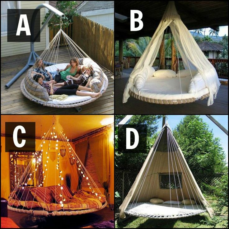 It's time to ask the audience!  If you can have one of these trampoline swing beds, which would you pick and why?  Need more trampoline swing bed inspiration? Get more details and tutorials here: http://theownerbuildernetwork.co/jgsh  Everybody enjoys jumping on a trampoline, but all good things come to an end. The question is what to do when your trampoline is wrecked beyond repair? The best solution is to turn it into a circular swing bed!