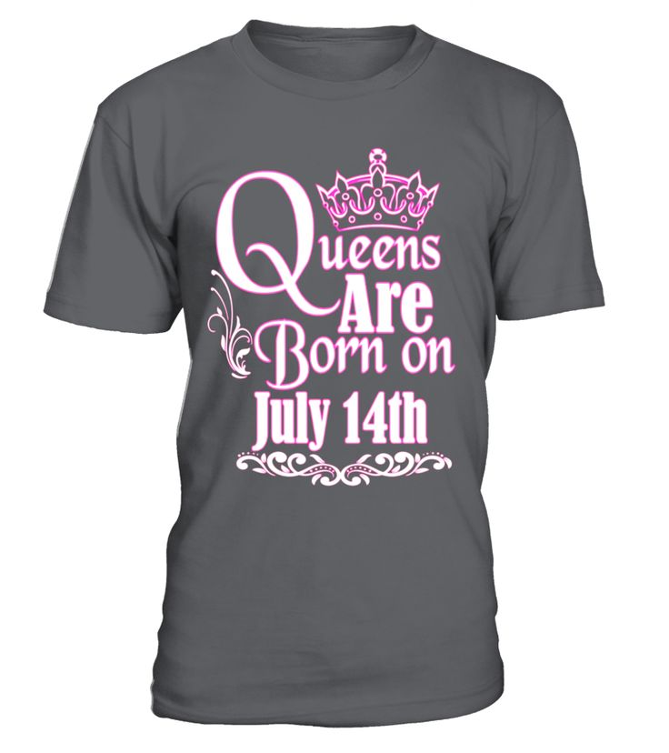QUEENS ARE BORN ON JULY 14TH FUNNY BIRTHDAY T-SHIRT