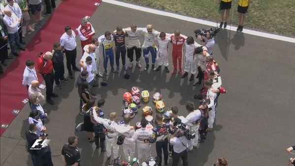 Drivers unite to remember Jules Bianchi #JB17