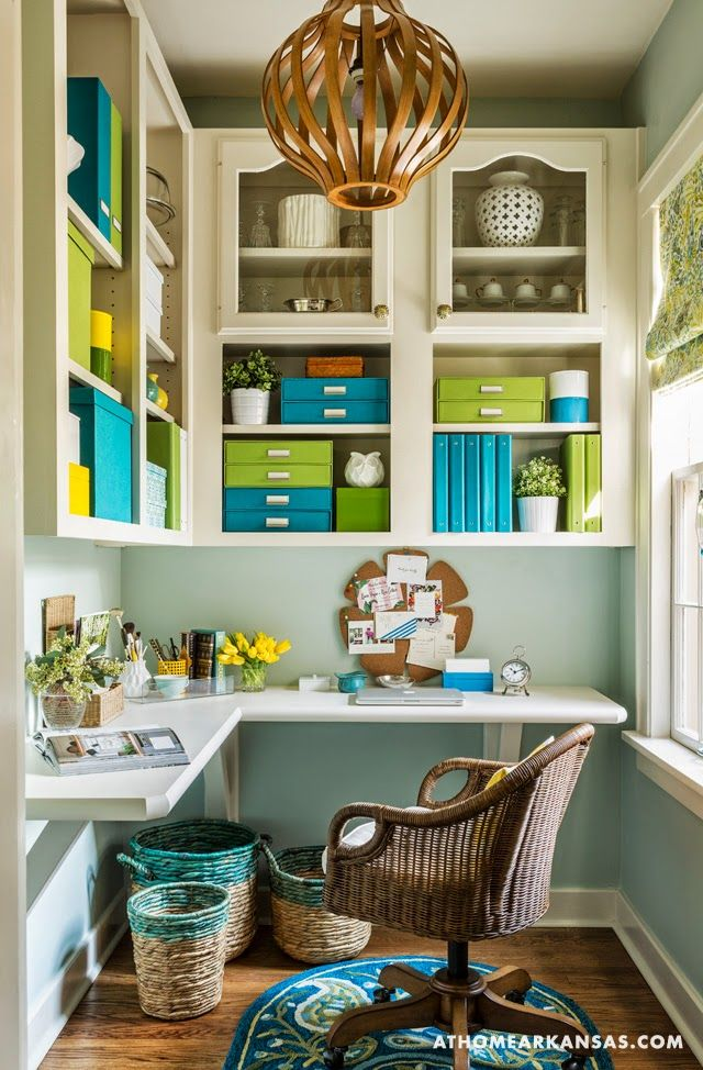 The beauty of this is that these are repurposed cabinets, taken out of an outdated kitchen. Little Rock Arkansas Home Makeover by Kathryn LeMasters