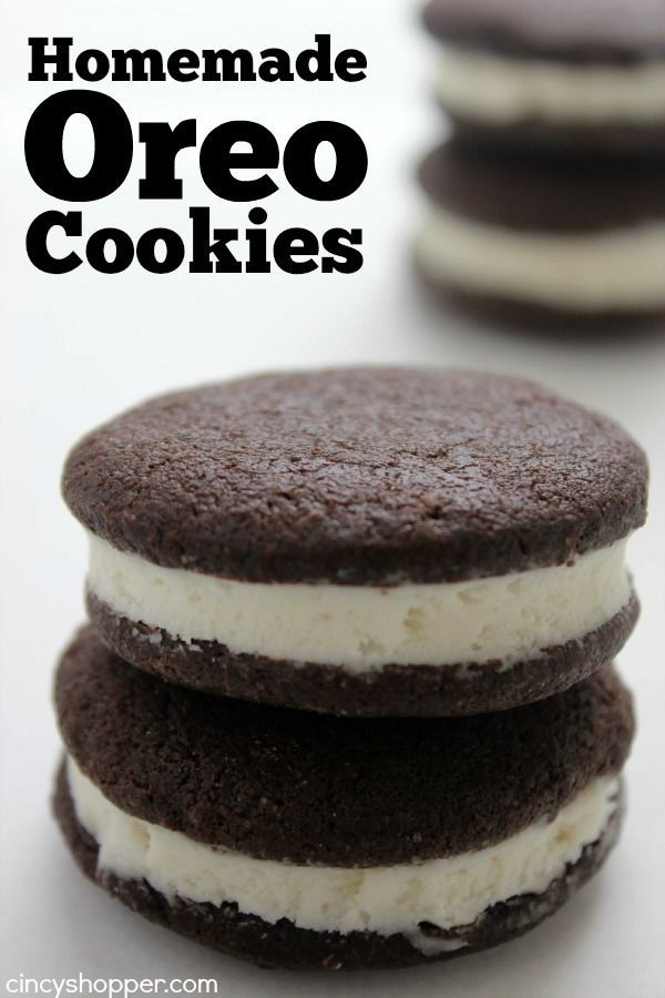 If you are fan of the famous cookie, you will be thankful for this Homemade Oreo Cookies recipe. The filling is the best! No need to buy store bought, you c