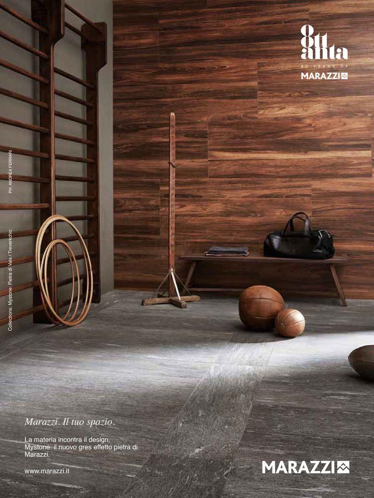 Marazzi treverkchic woodlook ceramics gym