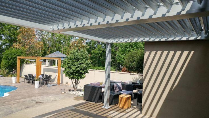 Maintenance Free Sun Shade - Aluminum Pergola . #aluminumpergola #pergola #pool #pergolas #pergolaideas #backyard #backyards #landscaping #landscapingideas #canada
