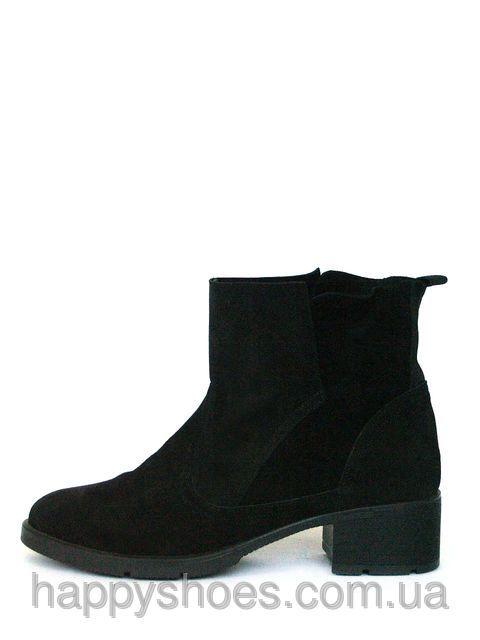 Черные замшевые ботинки женские, фото 2