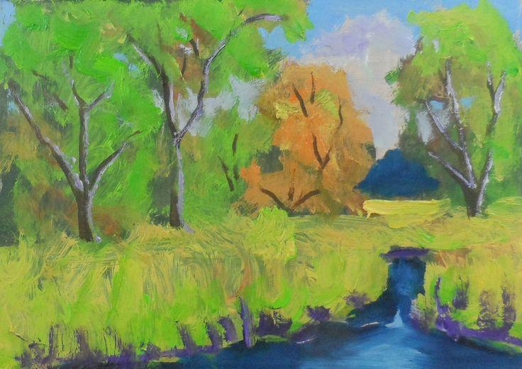 original artwork oil painting miniature landscape contemporary Ken Burnside #Realism