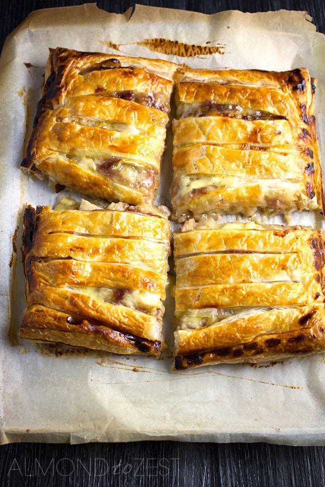 Chicken, Cranberry and Brie Pie