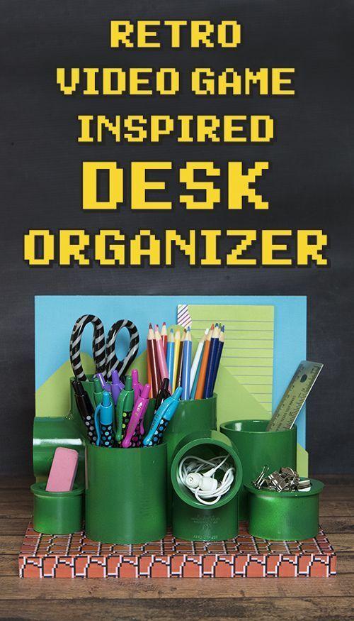 Retro Video Game Desk Organizer